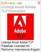 Licença anual Adobe TLP Presenter Licensed All Platforms International English Gold 1 Ano Per Seat Pro Min Req  (Figura somente ilustrativa, não representa o produto real)