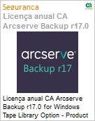 Licença anual CA Arcserve Backup r17.0 for Windows Tape Library Option - Product plus 1 Year Enterprise Maintenance  (Figura somente ilustrativa, não representa o produto real)