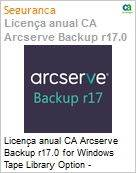 Licença anual CA Arcserve Backup r17.0 for Windows Tape Library Option - Competitive UPGRADE - Product plus 3 Years Enterprise Maintenance  (Figura somente ilustrativa, não representa o produto real)