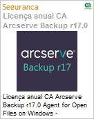 Licença anual CA Arcserve Backup r17.0 Agent for Open Files on Windows - Competitive UPGRADE - Product plus 3 Years Enterprise Maintenance  (Figura somente ilustrativa, não representa o produto real)