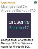 Licença anual CA Arcserve Backup r17.0 for Windows Agent for Microsoft SQL Server - Competitive UPGRADE - Product plus 3 Years Enterprise Maintenance (Figura somente ilustrativa, não representa o produto real)