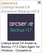 Licença anual CA Arcserve Backup r17.0 Client Agent for Windows - Competitive UPGRADE - Product plus 1 Year Enterprise Maintenance  (Figura somente ilustrativa, não representa o produto real)