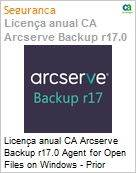 Licença anual CA Arcserve Backup r17.0 Agent for Open Files on Windows - Prior Version UPGRADE - Product plus 3 Years Enterprise Maintenance  (Figura somente ilustrativa, não representa o produto real)