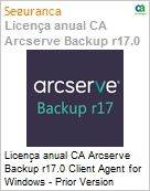 Licença anual CA Arcserve Backup r17.0 Client Agent for Windows - Prior Version UPGRADE - Product plus 3 Years Enterprise Maintenance  (Figura somente ilustrativa, não representa o produto real)