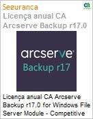 Licença anual CA Arcserve Backup r17.0 for Windows File Server Module - Competitive UPGRADE - Product plus 1 Year Enterprise Maintenance  (Figura somente ilustrativa, não representa o produto real)