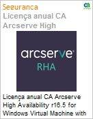 Licença anual CA Arcserve High Availability r16.5 for Windows Virtual Machine with Assured Recovery - UPGRADE from Replication - Product plus 1 Year Enterprise Maintenance (Figura somente ilustrativa, não representa o produto real)