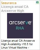 Licença anual CA Arcserve High Availability r16.5 for Linux Virtual Machine - UPGRADE from Replication - Product plus 1 Year Enterprise Maintenance (Figura somente ilustrativa, não representa o produto real)
