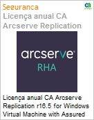 Licença anual CA Arcserve Replication r16.5 for Windows Virtual Machine with Assured Recovery - Competitive/ Prior Version UPGRADE - Product plus 1 Year Enterprise Maintenance (Figura somente ilustrativa, não representa o produto real)