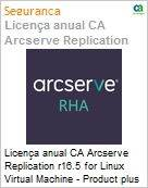 Licença anual CA Arcserve Replication r16.5 for Linux Virtual Machine - Product plus 1 Year Enterprise Maintenance  (Figura somente ilustrativa, não representa o produto real)