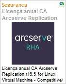 Licença anual CA Arcserve Replication r16.5 for Linux Virtual Machine - Competitive/ Prior Version UPGRADE - Product plus 1 Year Enterprise Maintenance (Figura somente ilustrativa, não representa o produto real)
