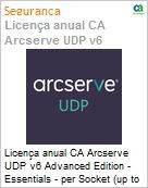 Licença anual CA Arcserve UDP v6 Advanced Edition - Essentials - per Socket (up to 6 per customer) One Year Enterprise Maintenance - New  (Figura somente ilustrativa, não representa o produto real)
