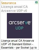 Licença anual CA Arcserve UDP v6 Standard Edition - Essentials - per Socket (up to 6 per customer) Three Years Enterprise Maintenance - New  (Figura somente ilustrativa, não representa o produto real)