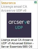 Licença anual CA Arcserve UDP v6 Advanced Edition - Server Essentials/SBS OS Instance License Only UPGRADE-from-Earlier-Version-of-Same-Product License (Figura somente ilustrativa, não representa o produto real)