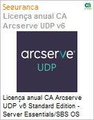 Licença anual CA Arcserve UDP v6 Standard Edition - Server Essentials/SBS OS Instance License Only UPGRADE-from-Earlier-Version-of-Same-Product License (Figura somente ilustrativa, não representa o produto real)