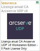 Licença anual CA Arcserve UDP v6 Workstation Edition - 5 Pack License Only Crossgrade-Between-Different-Products License  (Figura somente ilustrativa, não representa o produto real)
