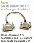 Cisco StackWise 1 m nonhalogen lead-free stacking cable Cisco StackWise 3 m nonhalogen lead-free stacking cable  (Figura somente ilustrativa, não representa o produto real)