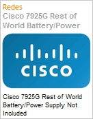 Cisco 7925G Rest of World Battery/Power Supply Not Included  (Figura somente ilustrativa, não representa o produto real)
