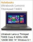 Ultrabook Lenovo Thinkpad T440S Core i5 4200U 8GB 128GB SSD 14 Windows 8.1 Professional com downgrade para Windows 7 Professional  (Figura somente ilustrativa, não representa o produto real)