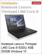 Notebook Lenovo Thinkpad L460 Core i5 6300U 4GB 500GB Windows 10 Professional com Downgrade Windows 7 Professional  (Figura somente ilustrativa, não representa o produto real)