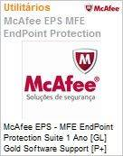 Intel Security McAfee EPS - MFE Endpoint Protection Suite 1 Ano [GL] Gold Software Support [P+] ProtectPLUS (251-500 licenças)  (Figura somente ilustrativa, não representa o produto real)