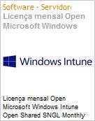 Licença mensal Open Microsoft Windows Intune Open Shared SNGL Monthly Subscriptions-Volume License Academic OPEN 1 License No Level Faculty Qualified [QLFD] Annual (Figura somente ilustrativa, não representa o produto real)