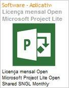 Licença mensal Open Microsoft Project Lite Open Shared SGNL Monthly Subscriptions-Volume License OPEN 1 License No Level [Qualified] [QLFD] Annual (Figura somente ilustrativa, não representa o produto real)