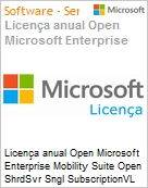Licença anual Open Microsoft Enterprise Mobility Suite Open ShrdSvr Sngl SubscriptionVL Academic OLP 1License NoLevel Faculty Qualified [QLFD] Annual [EDUCACIONAL] (Figura somente ilustrativa, não representa o produto real)