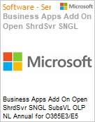 Business Apps Add On Open ShrdSvr SNGL SubsVL OLP NL Annual for O365E3/E5 Qualified  (Figura somente ilustrativa, não representa o produto real)