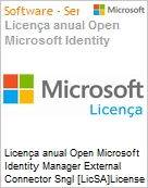 Licença anual Open Microsoft Identity Manager External Connector Sngl [LicSA]License + Software Assurance Pack Academic OLP 1License NoLevel Qualified [QLFD] [EDUCACIONAL] (Figura somente ilustrativa, não representa o produto real)