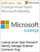 Licença anual Open Microsoft Identity Manager External Connector Sngl SoftwareAssurance OLP 1License NoLevel Qualified [QLFD]  (Figura somente ilustrativa, não representa o produto real)