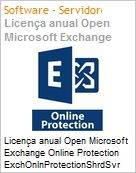 Licença anual Open Microsoft Exchange Online Protection ExchOnlnProtectionShrdSvr SNGL SubsVL OLP NL Annual Qualified [QLFD]  (Figura somente ilustrativa, não representa o produto real)