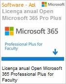 Licença anual Open Microsoft Office 365 Professional Plus for Faculty O365ProPlusOpenFaculty ShrdSvr SNGL SubsVL OLP NL Annual [Educacional] Qualified [QLFD] (Figura somente ilustrativa, não representa o produto real)