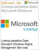 Licença perpétua Open Microsoft Windows Rights Management Services External Connection WinRghtsMgmtSrvcsExtConn 2016 SNGL OLP NL Academic [Educacional] [QLFD] (Figura somente ilustrativa, não representa o produto real)
