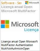 Licença anual Open Microsoft MultiFactor Authentication MultifctrAuthntctnOpen ShrdSvr SNGL SubsVL OLP NL Annual Qualified [QLFD]  (Figura somente ilustrativa, não representa o produto real)