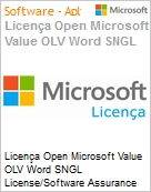 Licença Open Microsoft Value OLV Word SNGL License/Software Assurance Pack [LicSAPk] No Level Additional Product 1 Year Acquired year 1  (Figura somente ilustrativa, não representa o produto real)