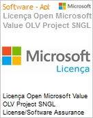 Licença Open Microsoft Value OLV Project SNGL License/Software Assurance Pack [LicSAPk] No Level Additional Product 2 Year Acquired year 2  (Figura somente ilustrativa, não representa o produto real)