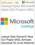 Licença Open Microsoft Value OLV Project SNGL Software Assurance No Level Additional Product 1 Year Acquired year 3  (Figura somente ilustrativa, não representa o produto real)