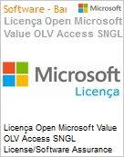 Licença Open Microsoft Value OLV Access SNGL License/Software Assurance Pack [LicSAPk] No Level Additional Product 1 Year Acquired year 2  (Figura somente ilustrativa, não representa o produto real)