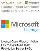 Licença Open Microsoft Value OLV Visual Studio Team Foundation Server SNGL Software Assurance No Level Additional Product 1 Year Acquired year 1 (Figura somente ilustrativa, não representa o produto real)