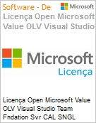 Licença Open Microsoft Value OLV Visual Studio Team Fndation Svr CAL SNGL License/Software Assurance Pack [LicSAPk] No Level Additional Product User CAL User CAL 1 Yea (Figura somente ilustrativa, não representa o produto real)
