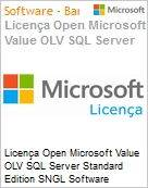 Licença Open Microsoft Value OLV SQL Server Standard Edition SGNL Software Assurance No Level Additional Product 1 Year Acquired year 2  (Figura somente ilustrativa, não representa o produto real)