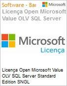 Licença Open Microsoft Value OLV SQL Server Standard Edition SNGL License/Software Assurance Pack [LicSAPk] No Level Additional Product 2 Year Acquired year 2 (Figura somente ilustrativa, não representa o produto real)