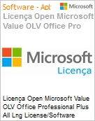 Licença Open Microsoft Value OLV Office Professional Plus All Lng License/Software Assurance Pack [LicSAPk] 1 License No Level Enterprise 2 Year Acquired year 2 (Figura somente ilustrativa, não representa o produto real)
