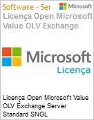 Licença Open Microsoft Value OLV Exchange Server Standard SNGL License/Software Assurance Pack [LicSAPk] No Level Additional Product 2 Year Acquired year 2 (Figura somente ilustrativa, não representa o produto real)