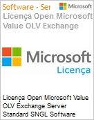 Licença Open Microsoft Value OLV Exchange Server Standard SNGL Software Assurance No Level Additional Product 2 Year Acquired year 2  (Figura somente ilustrativa, não representa o produto real)