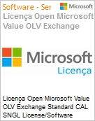 Licença Open Microsoft Value OLV Exchange Standard CAL SNGL License/Software Assurance Pack [LicSAPk] No Level Additional Product User CAL User CAL 2 Year Acquired year (Figura somente ilustrativa, não representa o produto real)
