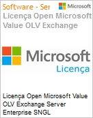Licença Open Microsoft Value OLV Exchange Server Enterprise SNGL License/Software Assurance Pack [LicSAPk] No Level Additional Product 3 Year Acquired year 1 (Figura somente ilustrativa, não representa o produto real)