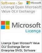 Licença Open Microsoft Value OLV Exchange Server Enterprise SNGL Software Assurance No Level Additional Product 3 Year Acquired year 1  (Figura somente ilustrativa, não representa o produto real)