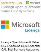Licença Open Microsoft Value OLV Dynamics CRM Essential CAL Sngl Software Assurance 1 License No Level Additional Product User CAL User CAL 1 Year Acquired year (Figura somente ilustrativa, não representa o produto real)