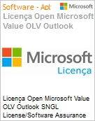 Licença Open Microsoft Value OLV Outlook SNGL License/Software Assurance Pack [LicSAPk] No Level Additional Product 1 Year Acquired year 3  (Figura somente ilustrativa, não representa o produto real)